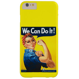 Remachador de Rosie del anuncio del vintage Funda De iPhone 6 Plus Barely There
