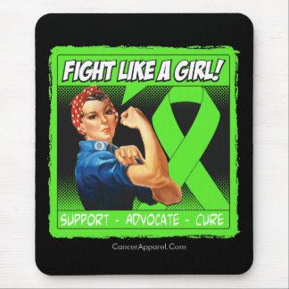 Remachador FightLikeAGirl de Rosie del linfoma de Mouse Pads