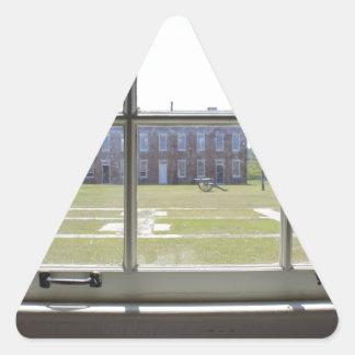 Remache del fuerte pegatina triangular