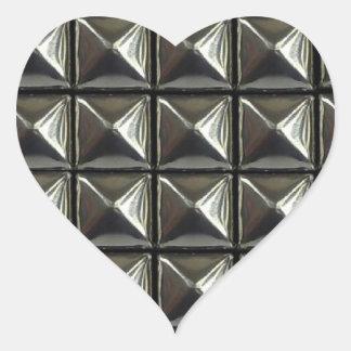 remaches de pirámide corazones pegatina en forma de corazón