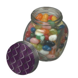 Remaches metálicos del cromo de la travesía de frascos de cristal jelly belly