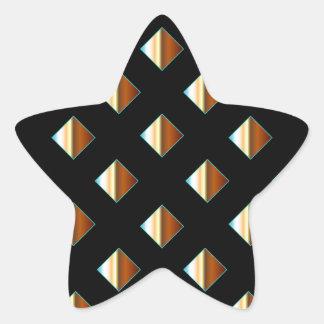 Remaches metálicos del oro pegatina en forma de estrella