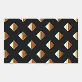 Remaches metálicos del oro pegatina rectangular
