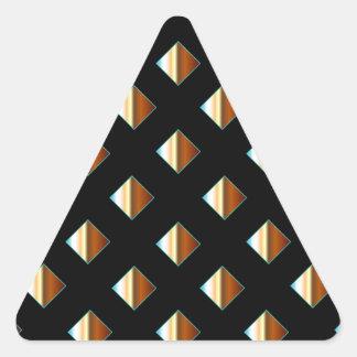 Remaches metálicos del oro pegatina triangular