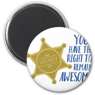 Remain Awesome 2 Inch Round Magnet
