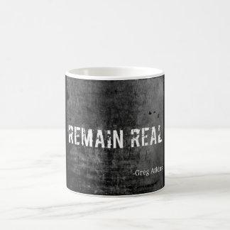 Remain Real Black and Grey Mug