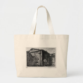 Remains of a covered porch, or cryptoporticus large tote bag