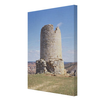 Remains of a Tower from the city of 'Uxama Argelae Canvas Print