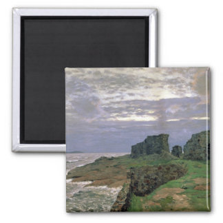 Remains of Bygone Days, Twilight, Finland, 1897 2 Inch Square Magnet