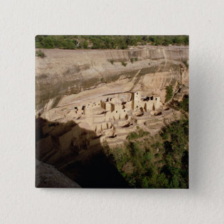 Remains of Pueblo Indian cliff dwellings Button