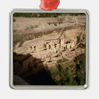 Remains of Pueblo Indian cliff dwellings Metal Ornament