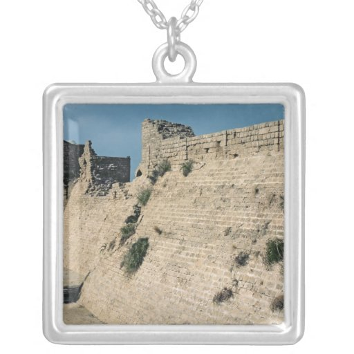Remains of the fortress walls, built c.37-31 BC Square Pendant Necklace