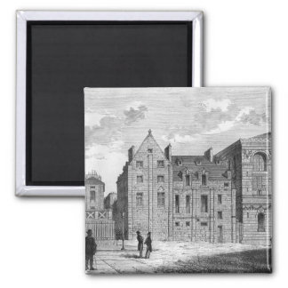 Remains of the Montaigu College, c.1850 2 Inch Square Magnet