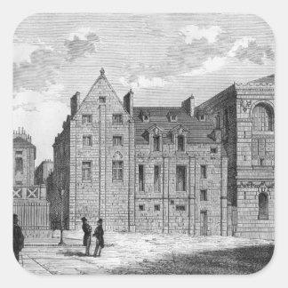 Remains of the Montaigu College, c.1850 Square Sticker