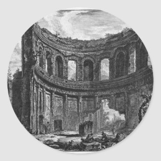 Remains of the Temple of Apollo said in Hadrian`s Classic Round Sticker
