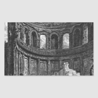 Remains of the Temple of Apollo said in Hadrian`s Rectangular Sticker