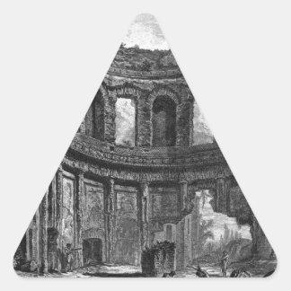 Remains of the Temple of Apollo said in Hadrian`s Triangle Sticker