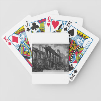 Remains of the Temple of Neptune`s cell Giovanni Bicycle Playing Cards
