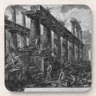 Remains of the Temple of Neptune`s cell Giovanni Drink Coaster