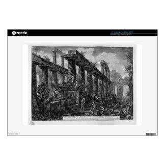 Remains of the Temple of Neptune`s cell Giovanni Laptop Decal