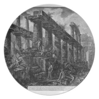 Remains of the Temple of Neptune`s cell Giovanni Plate