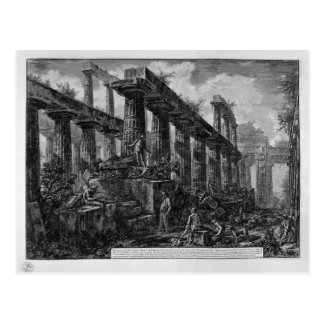Remains of the Temple of Neptune`s cell Giovanni Postcard