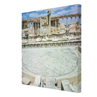 Remains of the theatre canvas print
