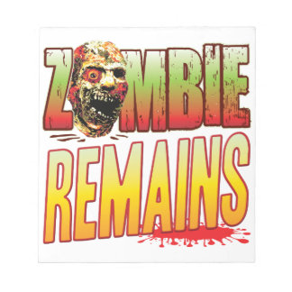 Remains Zombie Head Note Pads