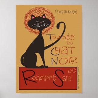 Remake lindo del gato negro de Le Chat Noir Póster