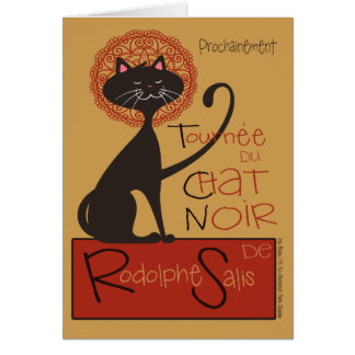 Remake lindo del gato negro de Le Chat Noir Tarjeta De Felicitación