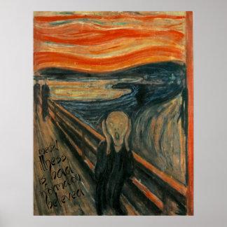 Remake mental de Gogh: El grito de Edvard Munch Póster