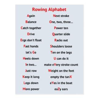 Remando alfabeto de la diversión de A a de Z de Postal