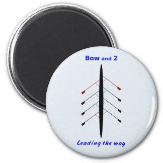 Remando el arco y dos llevan la manera imán redondo 5 cm