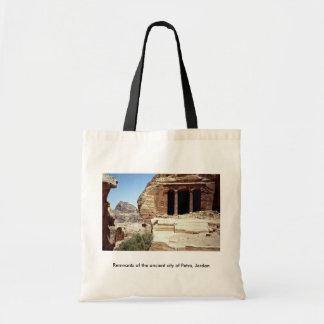 Remanente de la ciudad antigua del Petra, Jordania Bolsa Lienzo