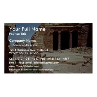 Remanente de la ciudad antigua del Petra Jordania Tarjetas De Negocios