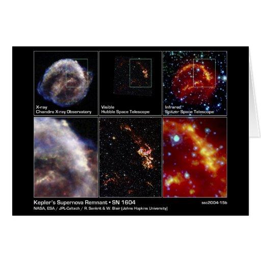 Remanente de la supernova de Kepler - SN 1604 2004 Tarjeta De Felicitación