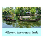 Remansos de Alleypey, la India Tarjetas Postales