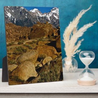 REMARKABLE HIGH DESERT ROCK FORMATION PHOTO PLAQUE