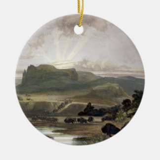 Remarkable Hills on the Upper Missouri, plate 34 f Ceramic Ornament