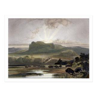 Remarkable Hills on the Upper Missouri, plate 34 f Postcard