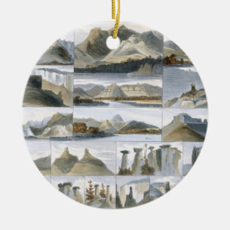 Remarkable Hills on the Upper Missouri, plate 35 f Ceramic Ornament
