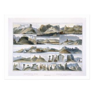 Remarkable Hills on the Upper Missouri, plate 35 f Postcard