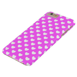 Remarkable pink, white hearts, Polka DOT sample Barely There iPhone 6 Plus Case