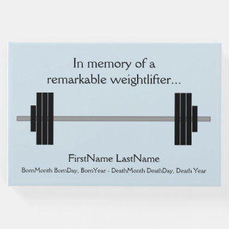 Remarkable Weightlifter Funeral Guestbook