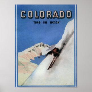 Remata la nación - poster promocional de esquí póster