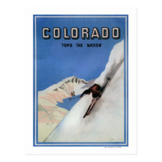 Remata la nación - poster promocional de esquí tarjetas postales