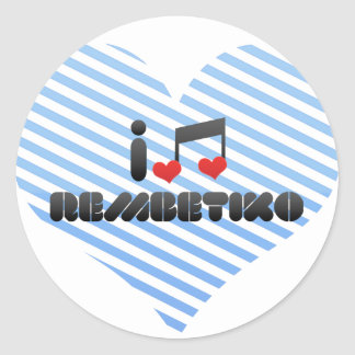 Rembetiko fan classic round sticker