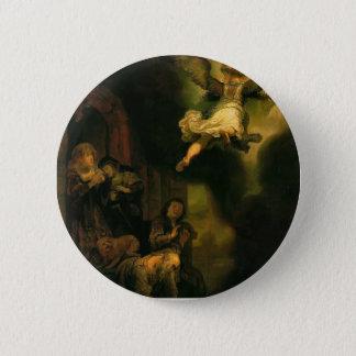 Rembrandt- Archangel Raphael Taking Leave Button