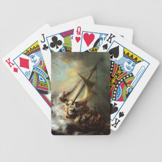 Rembrandt Art Painting Christ in the Storm Bicycle Playing Cards