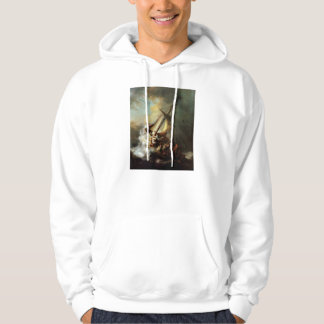 Rembrandt Art Painting Christ in the Storm Hooded Sweatshirt